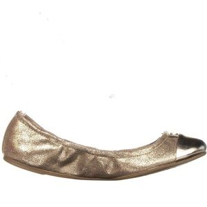 COACH Darsi Shimmery Gold Ballet Flats